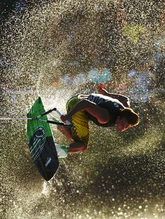 A competitor in action during the wakeboard event in the Moomba Masters Water Ski International Invitational Championships during the Moomba Festival on March 12, 2012 in Melbourne, Australia.