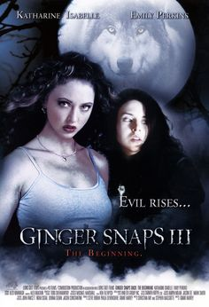 Ginger Snaps Back [Canada] Hd Movies, Movies Online, Movies And Tv Shows, Movie Tv, Ginger Snaps Movie, Katharine Isabelle, Horror Films, Snap Backs, Werewolf