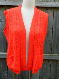 Vintage Red Milrank Wool Blend Large Sweater Vest / Layering Vest / Womens Plus Size Sweater Vest by VintageBaublesnBits on Etsy