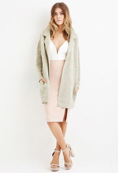 Boxy Marled Coat | Forever 21 - $32.80.   Versatile sweater for fall & winter