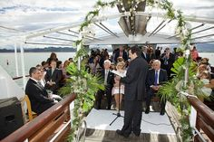 Boda celebrada en un barco, de La Lola se va de boda
