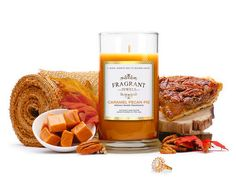 Oh This is GOOOOD! My mouth started watering when I saw what new scent Fragrant Jewel's is offering! CARAMEL PECAN PIE! YUUUMMM! My reaction to this candle is definitely justified. The scent thr...