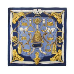 ab557f69c239 Hermes Etriers Silk Scarf   From a collection of rare vintage scarves at  http