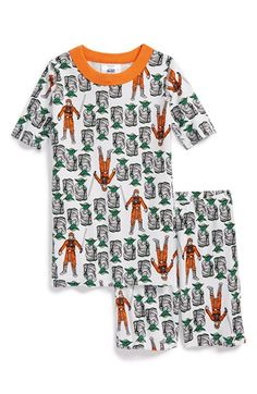 Hanna Andersson 'Star Wars - Master Yoda' Organic Cotton Two-Piece Fitted Pajamas (Toddler Boys, Little Boys & Big Boys) available at #Nordstrom
