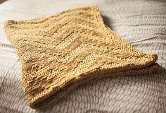 Sunshine Chevron Baby Blanket - Knitting Patterns and Crochet Patterns from KnitPicks.com