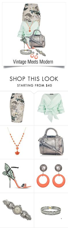 """Combining Past & Present"" by shamrockclover on Polyvore featuring River Island, Boohoo, Alexander Wang, Sophia Webster, Julie Sion and Tiffany & Co."