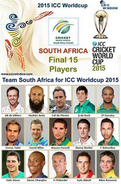 South Africa Squad for Semi-1 ICC Worldcup 2015 http://www.cricwindow.com/icc-worldcup-2015/south-africa-squad.html