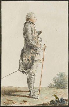 M le comte de Coigny, 1759 by Louis Caroggis Carmontelle (1717-1806)