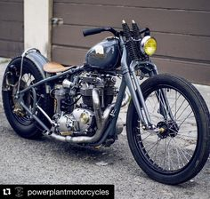 this our dream bike @powerplantmotorcycles  by urban_helmets