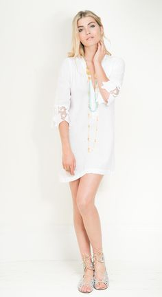 The stunning Catalina, £130, on LUX FIX https://lux-fix.com/shop/catalina-white-tunic-by-feather-bone