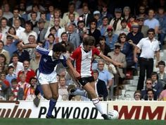 April Mike Channon, back in the colours of Southampton, shows a clean pair of heels to Ipswich full back George Burley. Brian Clough, Southampton Fc, Class Games, Working Class, Premier League, Football, Colours, Heels, Sports