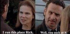 The Walking Dead funny meme - Rick and Deanna - TWD season 5