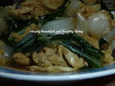Simple and yummy dish. http://simplybeautifulhealthyliving.blogspot.com/2013/08/fried-da-bai-chai-bak-choy-with-dried.html
