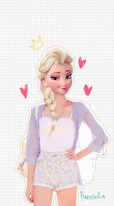Imagine if Elsa was just a regular girl like us.