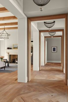 House Tour: Gorgeous modern English Tudor home in the Upper Midwest This Old House, Modern House Design, Modern Interior Design, English Tudor Homes, Living Room Wood Floor, Hallway Inspiration, Design Inspiration, Tudor Style Homes, Luxury Homes Dream Houses