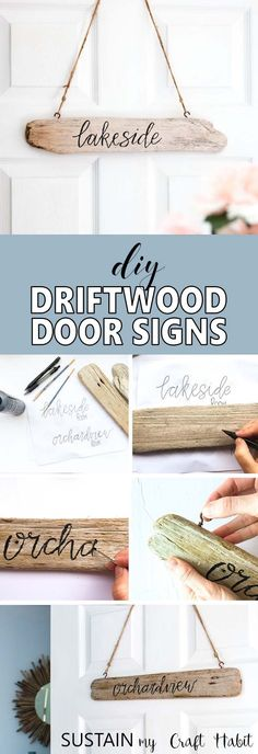 Diy Home : Illustration Description Learn how to make your own driftwood sign via Sustain My Craft Habit -Read More – - #DIYHome