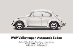 VW Beetle 1969 automatic sedan