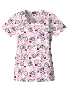 classic Missy Fit Burst Of Joy printed scrub top for women Square Neck Top, Womens Scrubs, Scrub Tops, Workout Tops, Fun Workouts, Fit Women, Chef Jackets, Men Casual, Joy