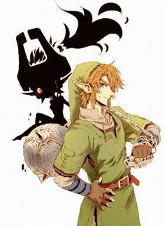 The Legend of Zelda: Twilight Princess Link and Midna The Legend Of Zelda, Legend Of Zelda Breath, Link And Midna, Link Zelda, Manga, Pokemon, Zelda Twilight Princess, Fanart, Wind Waker