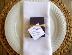 Lavender Favor Box Place Setting