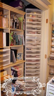 The Flamingo Chronicals: Craft Space Blog Hop - stack Iris drawer units