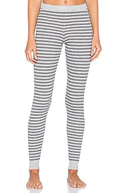 omg cozzies!! LA Made 4x2 Rib Stripe Sweater Legging in Heather Grey & Raven