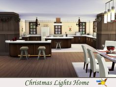 evi Christmas Lights Home Big Kitchen, Sims Community, Christmas And New Year, Second Floor, Christmas Lights, Home Decor, Christmas Fairy Lights, Decoration Home, Room Decor