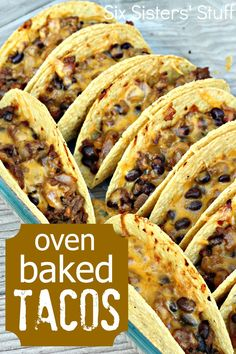 ... Oven Baked Tacos on Pinterest | Oven Baked, Recipe For Tacos and Tacos