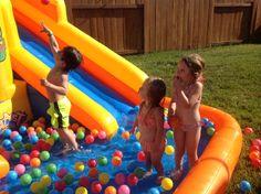 Grandchildren playing