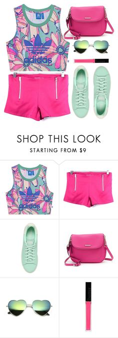 """Green and Pink"" by gabygirafe ❤ liked on Polyvore featuring adidas Originals, Dana Buchman and Butter London"