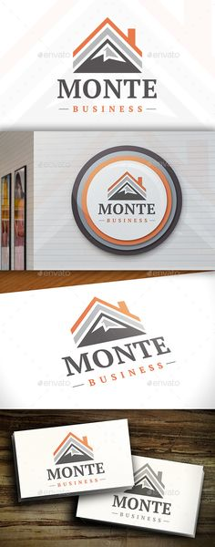 Mountain House Logo Design Template Vector #logotype Download it here:  http://graphicriver.net/item/mountain-house-logo-template/11379760?s_rank=1246?ref=nexion