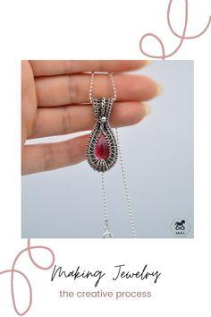 #tutorial #wirejewelry #wirependant #wirenecklace #wirewrapping #makingjewelry #diyjewelry Wire Wrapped Jewelry, Wire Jewelry, Wire Necklace, Pendant Necklace, Wire Tutorials, Wire Pendant, Wire Wrapping, Artsy, Jewelry Making