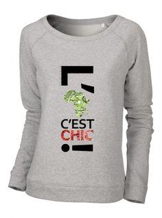 Chic sweat-shirt femme modèle CYCLING SQUARE 100% coton. Coupe standard avec des finitions cotelées au niveau du col et des manches.#sweatshirt #urbanchic #africaninspiration #lafriquecestchic #itpiece #spingsummer15 #parisianstyle #londonstyle #nystyle #workwear #dailyswag #dailychic #streetstyle