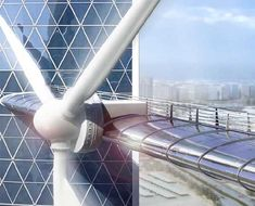 BAHRAIN WORLD TRADE CENTER Has Giant Wind Turbines! | Inhabitat - Green Design, Innovation, Architecture, Green Building