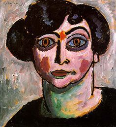 Alexei von Jawlensky - 1913 http://www.reproduction-gallery.com/oil_painting_reproduction_gallery/Alexei-von-Jawlensky-Woman-with-Black-Hair-1913-large-1342775086.jpg