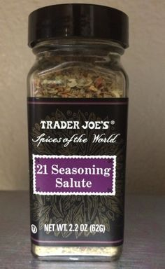 21 ways to use 21 Seasoning Salute from TJs  (If it calls for salt & pepper, this will probably taste great on it too.)