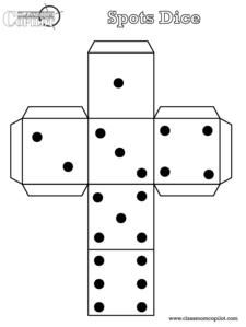Printable dice