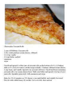 Cheesecake Crescent Rolls-super easy dessert