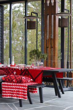 Marimekko, Christmas Design, Beach House, Table Settings, Table Decorations, Architecture, Monet, Interior, Prints