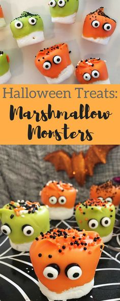 halloween treats marshmallow monsters