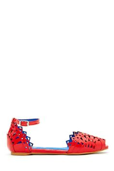 Jeffrey Campbell Picado Flat - Red
