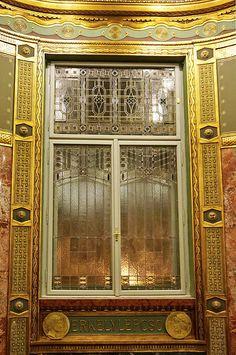 ˚Budapest Art Nouveau Window