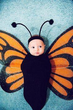 Disfraz bebe mariposa, Disfraz hecho a mano. Disfraz casero fácil para carnaval
