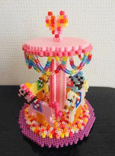3D carrusel hama beads