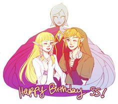 woooo happy 1st birthday skyward sword !! 。:゜★。ヽ(@°▽°@) I LOVE YOU GUYS!!!