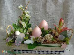 Tavaszi húsvéti asztaldísz, Dekoráció, Húsvéti apróságok, Otthon, lakberendezés, Kaspó, virágtartó, váza, korsó, cserép, Mondhatnám,hogy a tavaszi zsongás folytatódik,pláne egy ilyen csúf, borongós napon. Muszáj vo..., Meska.hu (Andartdecoration)