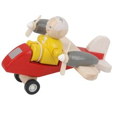 Plan Toys Turboprop Airplane with Pilot: Amazon.co.uk: Toys & Games