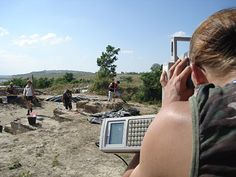 Excavations at the Middle Paleolithic site of Neumark.