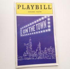 Playbill 1998 On The Town Jesse Tyler Ferguson Gershwin Theatre Broadway
