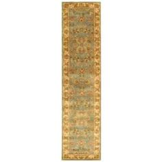 Safavieh Heritage Blue/Beige 2 ft. 3 In. x 10 ft. Wool Runner  on  Daily Rug Deals